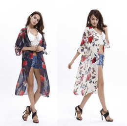 Wholesale Floral Tanks - Tank Tops Blouses Shirts Summer Europe Blouses for Women Knits Tees Tops for Women Rompers for Women Beach sun shirt wholesale