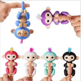 Wholesale Electronics For Kids - Interactive Baby Monkey Cute Fingerlings Stress Release Fun Toys Finger Puppets Electronic Monkey Toys For Kids For Babies Christmas Gift