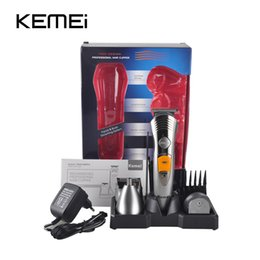 Wholesale Hair Cutting Shavers - KM-580A 7 In 1 Hair Clipper Razor Shaver Household Rechargeable Electric Hair Cutting Machine Hair Care Styling Tools UE Plug 0604070