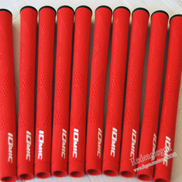 Wholesale Grip 1pcs - Wholesale New Golf Grips Top Quality IOMIC Rubber Golf Clubs Grips 1pcs lot 10 colors can Mix color Golf irons Grips Free shipping