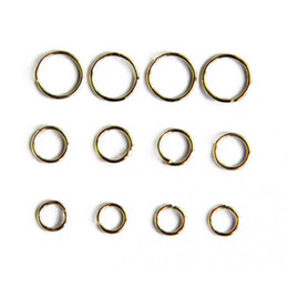 Wholesale Gold Plated Rings Bulk - All Size Colored Jewelry Finding Stainless Jump Rings for Jewelry Making in Bulk 100g bag JR05