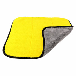 Wholesale Thick Microfiber Cleaning Cloths - 45x38cm Plush Microfiber towel Super Thick Car Cleaning Wash Clean Cloth Car Care Microfibre Wax Polishing Towels