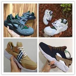 Wholesale custom rubbers - 2017 Huaraches ID Custom Breathe Running Shoes For Men Women,Woman Mens navy blue tan Huaraches Multicolor Sneakers Athletic Trainers 36-46