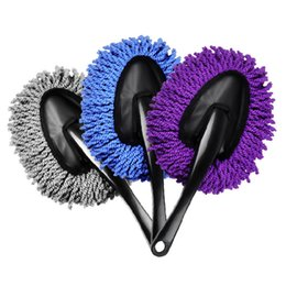 Wholesale Mop Brush Cleaning - Auto Car Duster Wax Mops Microfiber Mini Wax Brush Dust Removal Cleaning Washing Brush 3 Optional Colors TCHE0001-BE