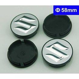 Wholesale 58mm Wheel Caps - 4pcs 58mm Car Styling Accessories Emblem Badge Sticker Wheel Hub Caps Centre Cover for SUZUKI Swift Grand Vitara Alto SX4 Splash