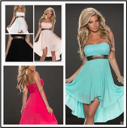 Wholesale Pink Dress Women Xxl - New Sexy Dress Top Thin Tulle sequin Summer Dress Women Short Plus Size Dress Irregular Strapless Chiffon Vestido Femme S-XXL