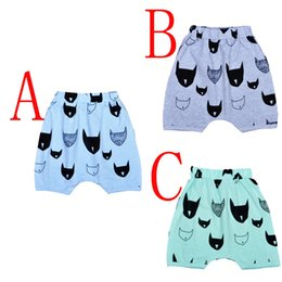 Wholesale High Waist Pants For Babies - 5pcs Bat Head Pattern Boys Girls Shorts Pants Cartoon Batman Pants For Baby Clothes High Quality 2016 Brand Children Harem Pants 3 Colors