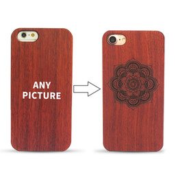 Wholesale Iphone Laser Engraving - Laser Engraved Wood Case For iPhone 7 6 6 S Plus Original Retro PC + Wood Ultra Thin Back Cover Case