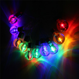 Wholesale Led String Bulb Multicolor - Wholesale- 1.5M Globe Balls Bulb Multicolor Fairy Lamp 10 LED String Light Battery Power Christmas Wedding Party Home LED Outdoor Light