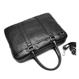 Wholesale Canvas Briefcase Bags Men - Promotion Simple Famous Brand Business Men Briefcase Bag Luxury Leather Laptop Bag Man Shoulder Bag