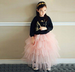 Wholesale Cake Skirt Children - 2016 Summer Autumn New Girl Skirts Gauze Tiered Fluffy Skirts Fashion Cake Skirts Children Clothes 16905