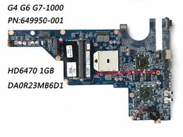 Wholesale Motherboard For Hp G6 - 649950-001 Laptop Motherboard For HP Pavilion G4 G6 G7-1000 Motherboard DA0R23MB6D1 HD6470 1GB Classy 100% Fully Tested