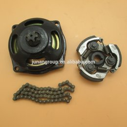 Wholesale Mini Gear Chain - Wholesale- 6T Gear Box Drum Clutch Pad Chain kit 43cc 47cc 49cc Rocket Dirt Bike Mini Quad