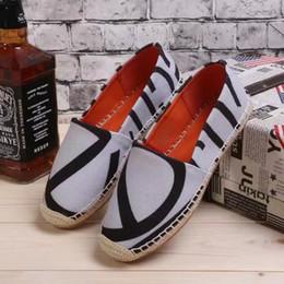 Wholesale Lowest Prices Name Brands - Newest arrive fashion brand name print canvas flats women lady shoes footwear drop shop wholesale lowest price 1511
