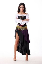 Wholesale Sexy Women Costume Pirate - Adult Sexy Women's Pirate Halloween Costume Female Fancy Dress Carnival Party Cosplay Clothing nightclub ds costumes Night Bar