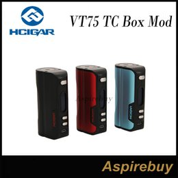 Wholesale Software Wholesalers - HCigar VT75 75W TC VW APV Mod VT75 TC Box Mod DNA75 Board from Evolv Technologies TC Mode for SS Ti Ni Escribe Software for Customization