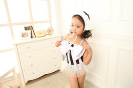Wholesale Cute One Piece Swimsuit Bow - Baby Girls Bikini Kids Girl Swimwear Baby Swimsuit Ruffle Bow Princess Three Pieces Swim Cute Clothing
