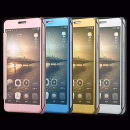 2020 iphone luxus spiegel galvanisieren Für iphone 6 7 plus für s7 case luxus clear view spiegel flip galvanik case für s7 edge spiegel case mit kleinpaket dhl free sca094 günstig iphone luxus spiegel galvanisieren