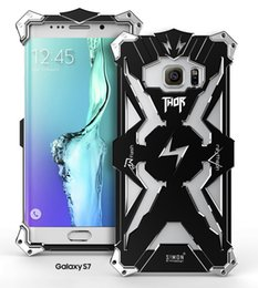 Wholesale Iphone Metal Iron Man - For iphone 6 6s plus 7 7plus Thor Iron Man Metal Aluminum Cases Punk Crash Proof Bumper Case Samsung for Galaxy S6 S7 Edge DHL Free SCA120