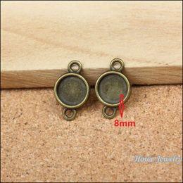 Wholesale Metal Charms Bronze Frame - Wholesale 150 pcs Vintage Charms Round frames Pendant Antique bronze Fit Bracelets Necklace DIY Metal Jewelry Making