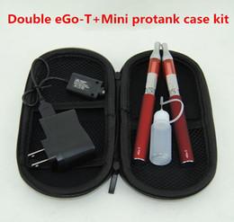 Vaporizador mod bateria dupla on-line-Duplo Eletrônico Cigarros eGo T vape canetas Starter Kits Mini Protank Vaporizador 650 mAh 900 mAh 1100 mAh Ego-T Baterias VS TVR 30 caixa mod kit