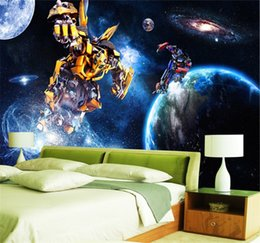 Wholesale Smoking Boy - Custom 3D wallpaper for walls Galaxy Transformers Photo wallpaper Starry sky Wall mural Boys Bedroom Living room Wall covering