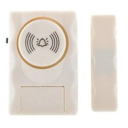 2019 alarma del sensor magnético Súper ruidosas puertas y ventanas de alarma Sistema de advertencia de alarma Sensor magnético de la puerta alarma de seguridad para el hogar con caja al por menor alarma del sensor magnético baratos