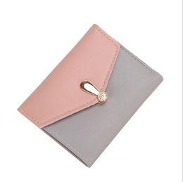 Wholesale Nice Ladies Purses - Nice Patchwork Short Women Wallet Solid Color Zipper Wallet Clutch Bag Business Card Holder Lady Money Snap Purse tassel bag