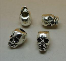 Wholesale Cheap Tibetan Jewelry - jewelry cheap 50pcs lot 12x11x9cmfashion big loose beads tibetan silver charms skull shaped charms pendants for DIY Jewelry accessories