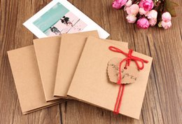 Wholesale Double Sided Photo Paper - Wholesale-Kraft paper CD bag Two tablets wedding photo photo CD CD covers brown paper envelope bag brown paper bag Can be customized
