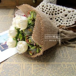 Wholesale Specialty Packaging - Wholesale Price Packaging Paper, 4.5 Meter Jute Wrapping Paper,Vintage and Countryside Style Gift Wrapping Roller