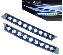Wholesale Daylight Audi - 9 LED Car Daytime Running Light DRL Waterproof Daylight DC 12V FOR AUDI A6 Q5 Q7 2005-2008