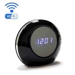 Wholesale Wi Fi Hidden Camera - Wireless HD 1080P Wi-Fi Alarm Clock Hidden Spy Camera with 120 degree view angle IP P2P Cam Camera for PC phone control