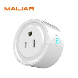 Wholesale time control switch - Original Smart Wifi Socket Switch Round US Plug Remote Control Socket Outlet Timing Switch for Smartphone Android IOS Home Automation