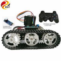 Wholesale Arduino Shields - Official DOIT Wireless Control Smart Robot Crawler Tank Car Chassis with Arduino Uno R3 Board Motor Drive Shield for Arduino Kit