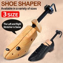 Деревянная обувь онлайн-2-Полосная Регулируемая Обувь Деревья Из Массива Дерева Унисекс Носилки Пара Кедровый Рог