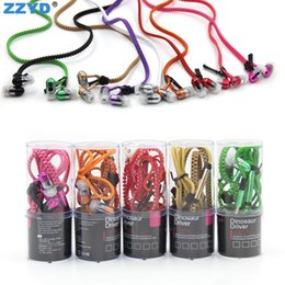 Wholesale Earbuds For Sale - Universal Zipper Earbuds 3.5mm headphone Hot Sale Earphone With Mic Cheap Headset With Barrels Package