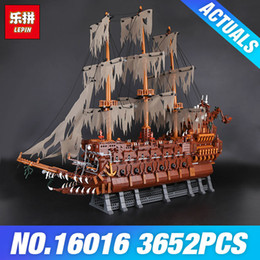Wholesale Netherlands Gifts - New Lepin 16016 3652Pcs MOC Movies Series The Flying the Netherlands Set Building Blocks Bricks Educational Toys Model Boys Gift