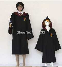 Wholesale Black Magic Costume - Halloween party clothes Cosplay costume Harry Potter Gryffindor Slytherin Hufflepuff Ravenclaw Cloak magic robe Kids Adult