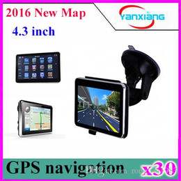 Wholesale Igo Maps China - DHL 30PCS 4.3inch GPS NAVIGATOR 128M 4GB igo navitel map FM mp3 mp4 ZY-DH-01