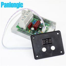 Wholesale Voltage Dimmer - AC 220V 10000W 80A Digital Control SCR Electronic Voltage Regulator 10-220V Speed Control Dimmer Thermostat + Digital Meters