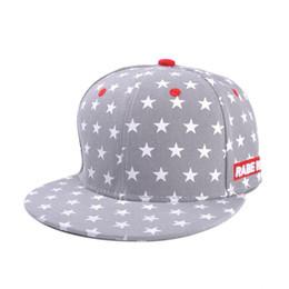 Wholesale Korean Tidal Hats - Hat female Korean tidal flat brimmed hat summer outdoor men pentacle embroidered flat brimmed baseball cap hip-hop hat