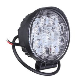 Wholesale Led Car Driving Lights - 10pcs 4 Inch 27W LED Work Light Bar for Indicators Motorcycle Driving Offroad Boat Car Tractor Truck 4x4 SUV ATV Flood 12V