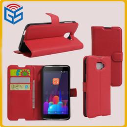 Carteira para alcatel one touch on-line-Invenções de eletrônica nova virar pu capa de couro carteira de telefone case para alcatel one touch ídolo 4s 6070 k 6070o 6070y