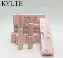 Wholesale Blue Color Eyeliner - Too Hot Sale Kylie kylie cosmetics birthday edition Face Makeup Waterproof Black Liquid Eyeliner + Mascara 2 in 1 Set