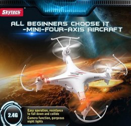 Wholesale Remote Control Helicopter Children - Skytech GP Toys M62 2.4G 4CH 6-Axis Remote Control RC Helicopter Quadcopter Toys Drone Ar.Drone With Camera Gift For Children