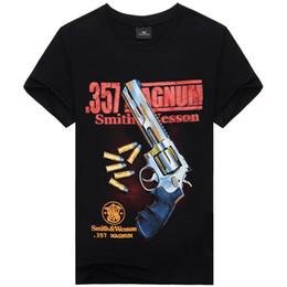 Wholesale Gun Dryer - 2016 New Fashion Men's Cool 3D Print Gun Cotton Brand T Shirt Men 3D Tshirt Clothes Causul T-Shirts