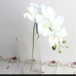 Wholesale Orchids Artificial Flower - Artificial Butterfly Orchid Silk Flower Floral Bouquet Phalaenopsis Home Garden Wedding Party Decorations 6 Colors