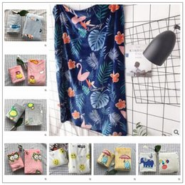 Wholesale thick warm blankets - 8 Styles 100*135cm Flamingo Blankets Polyester Children Cartoon Throw High Quality Home Textile Winter Thick Warm Blanket CCA8003 10pcs