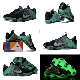 Wholesale Kobe Chain - (With shoes Box) 2016 New Kobe 11 XI Bryant Elite Low All AS Star Black Green Glow Fade 822521-305 Shoes Men Shoes